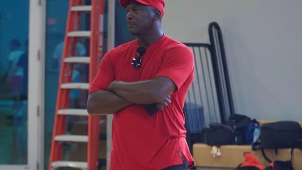 Michael Jordan Makes Appearance At Charlotte Hornets Training Session