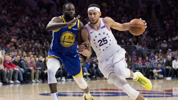 """Stephen A. Smith Says Ben Simmons Should Be Traded To Warriors: """"Even Though Golden State Doesn't Want Him And Draymond Green Together, If You Can Get Wiggins And A Couple Of First-Round Picks For Ben Simmons, You Do It."""""""