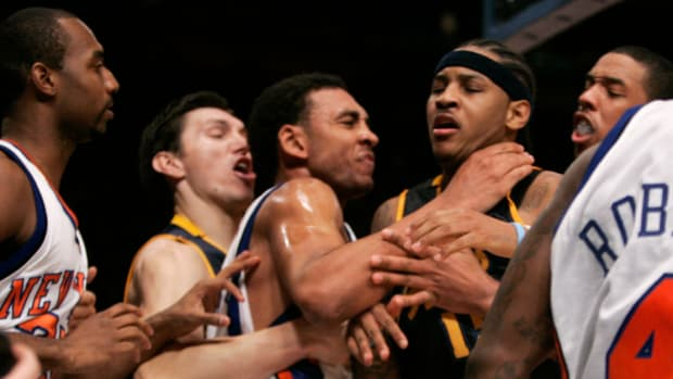 """Carmelo Anthony Sheds Light On Infamous Knicks-Nuggets Brawl: """"Isiah Got Beef With George Karl. I Don't Know What The F*** Beef Is, But They Got Beef."""""""