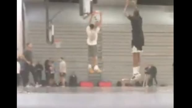 Young Fan Secretly Records LeBron James And Anthony Davis At Minicamp In Las Vegas