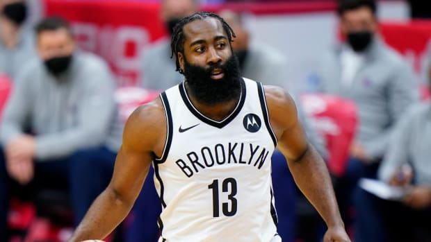 James Harden Learns Firsthand About New NBA Foul Rules When He Doesn't Get The Call For A Three-Pointer