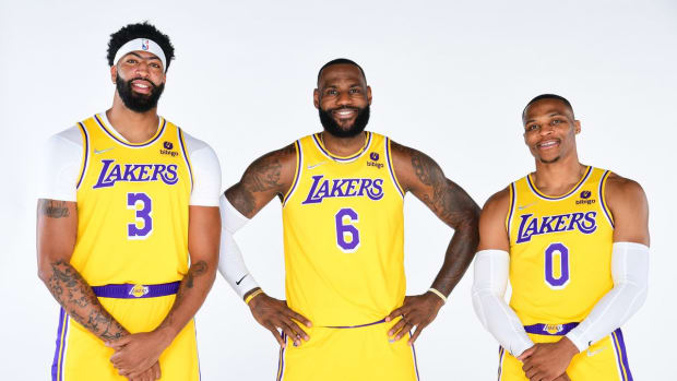 Lakers' Big Three Of LeBron James, Anthony Davis, And Russell Westbrook Will Play Together For First Time In Preseason Game Against The Warriors