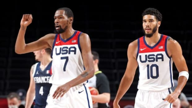 Kevin Durant and Jayson Tatum at the Olympics