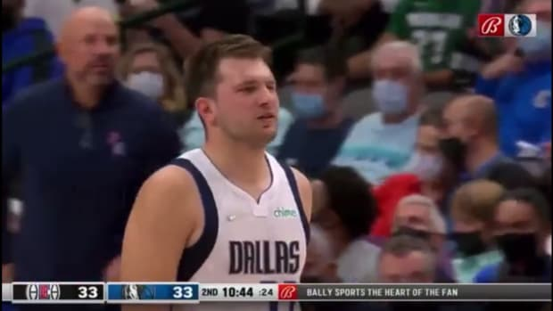 """Luka Doncic Shouted """"Shut The F**k Up"""" To The Clippers Bench After Terance Mann Drew An Offensive Foul On Him"""