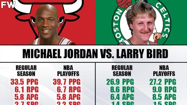Michael Jordan Never Beat Larry Bird And Boston Celtics In The NBA Playoffs: 0-6