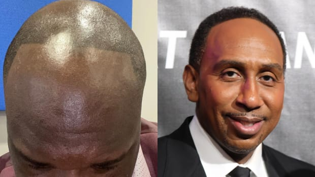 """Shaquille O'Neal Trolls Stephen A. Smith With Hilarious Birthday Message: """"I'm Rocking My Hairline Like This All Season. All Because You Are My Favorite Guy."""""""