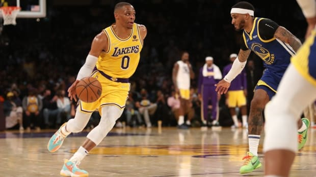 """Kendrick Perkins Gives Harsh Verdict On Russell Westbrook's Lakers Debut: """"I Love Russ Competitiveness But He's TRIPPEN Right Now."""""""