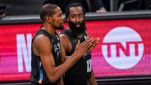 """Adrian Wojnarowski Says The Nets Knew They Couldn't Count On Kyrie Irving: """"They Saw James Harden As A Necessity..."""""""