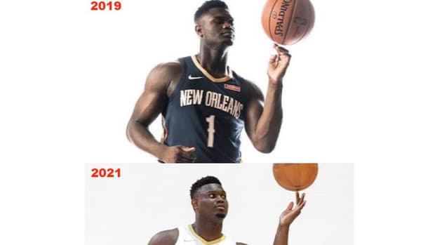 """NBA Fans Are Shocked With Zion Williamson's Body Transformation: """"25 Nuggets And 10 Cheeseburgers Please"""""""
