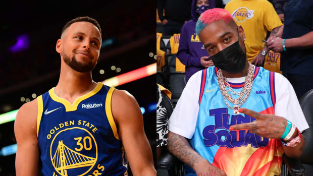 """Kid Cudi Denies Spilling Drink That Almost Caused Steph Curry To Slip And Get Injured: """"That Was NOT ME!"""""""