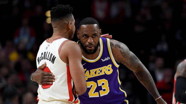 "CJ McCollum Trolls LeBron James Over His 'Calm' Endorsement Deal: ""That Calm App Got Bron Quick Releasing Treys."""