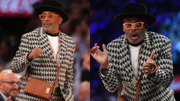Spike Lee Wore $5,000 Louis Vuitton Suit For Knicks Season Opener vs. Celtics