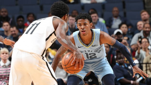 Ja Morant Pokes Fun At Kyrie Irving After Wearing His Shoes On Opening Night