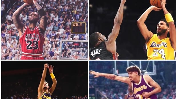 NBA Recreates Iconic Pictures With Modern-Day Stars: Michael Jordan's 'The Last Shot', Dr. J's Baseline Scoop, Magic's Iconic Assist