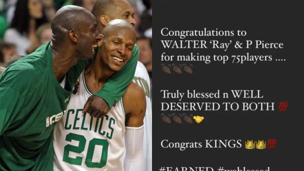 Kevin Garnett Ends 9-Year Beef With Ray Allen After Both Players Made All-Time 75 Players List
