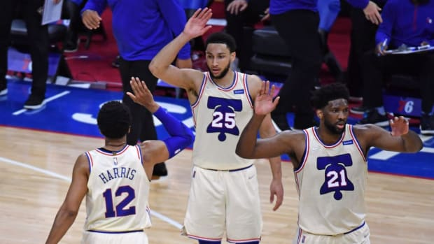 """Tobias Harris On Ben Simmons: """"I Think We Have To Understand He's A Human First And If He's Going Through Something We Have To Respect That And Be There For Him As A Team, Organization."""""""