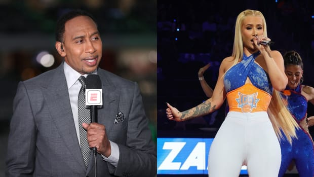 """Stephen A. Smith Shoots His Shot With Iggy Azalea After Seeing Her At Knicks vs. Celtics Game: """"We Like To See Her There, It's Just Important To Me."""""""