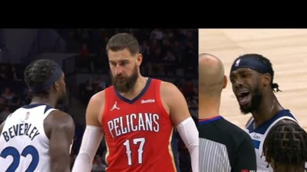 NBA Fans Incredibly Furious With Patrick Beverley After He Tried Irritating Jonas Valenciunas At The Free Throw Line