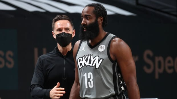 """Steve Nash Supports James Harden After His Recent Struggles In Form: """"He's Still An Excellent Player Even If He's Not At Peak Form And We Still Believe In Him"""""""