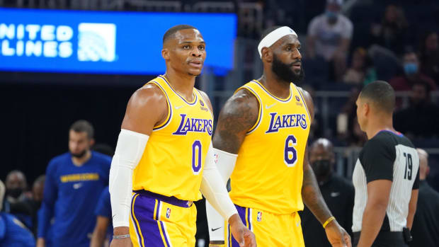 """Skip Bayless After Russell Westbrook's Dominant Performance: """"Without LeBron, His Dream Has Come True. The Lakers He Grew Up Loving Are Now His Team."""""""