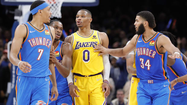 """Russell Westbrook Was Extremely Mad At Darius Bazley After He Stole And Dunked The Ball In Final Seconds Of The Game: """"There's Certain Things You Just Don't Do In Sports."""""""