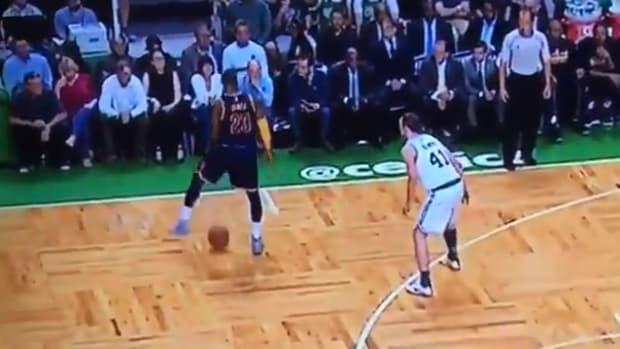 LeBron James disrespects Kelly Olynyk against the Boston Celtics