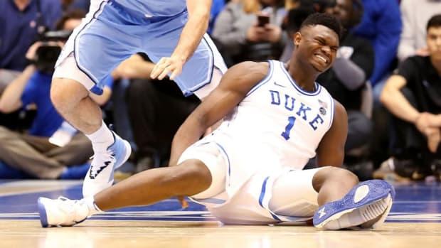 "Mike Krzyzewski: ""We're Very Concerned About Zion. It's A Mild Knee Sprain."""