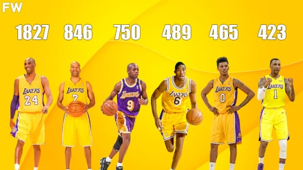 Top 10 Players Who Scored The Most 3PTS In Lakers History