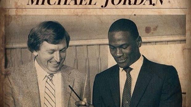 Michael Jordan Signed With Chicago Bulls