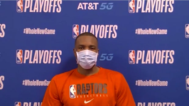 Serge Ibaka Casually Answering Questions In English, French, And Spanish After Game 4
