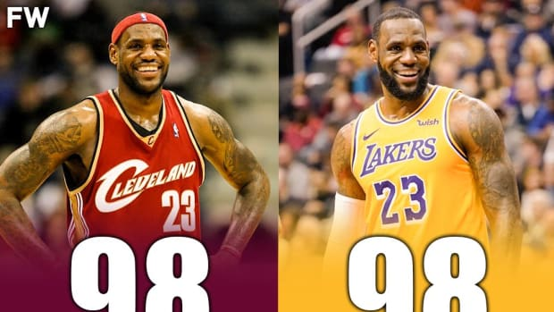 The Longest Prime In NBA History LeBron James NBA 2K Rating From 2007 To 2020