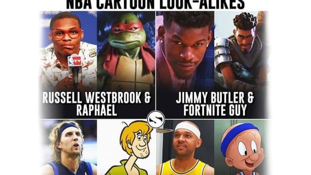 NBA Cartoon Look-Alikes: Russell Westbrook And Raphael, Draymond Green And Donkey