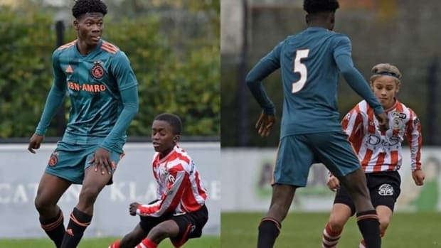 One Of Ajax's U15 Players Goes Viral After Pictures Show He's Twice The Size Of His Opponents