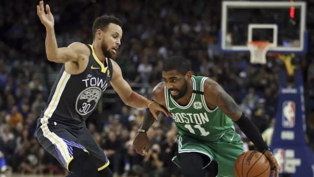 Kyrie Irving Stephen Curry Boston Warriors