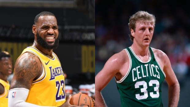 """LeBron James React To Hilarious Story About Larry Bird: """"Larry Legend Was An ABSOLUTE MONSTER!!! Love His Game So much!! IQ Insane And Passion About Just Playing Winning Basketball Was Through The Roof!"""""""