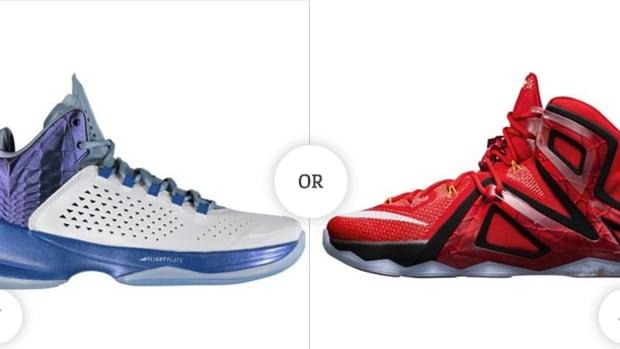Nike LeBron Red 12 Elite vs Jordan Melo Blue M 11