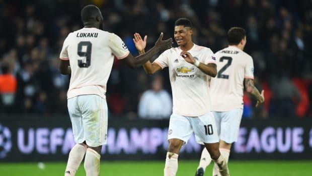 Romelu Lukaku Marcus Rashford Manchester United
