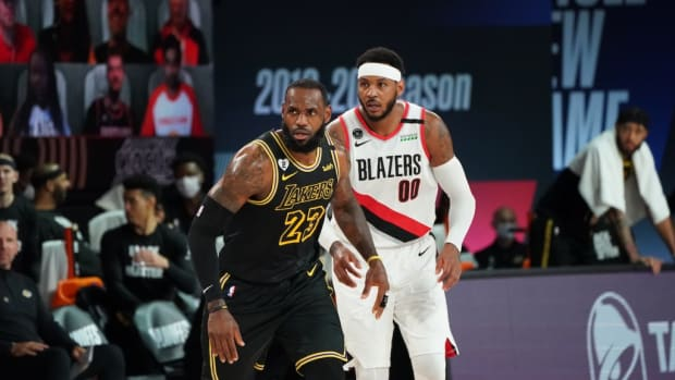 """Carmelo Anthony Reveals What LeBron James Said When He Called Him About Joining The Lakers: """"I Need You… The Time Is Now""""."""