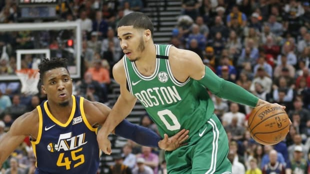 """Jayson Tatum Responds To Donovan Mitchell 'Bruh Why Are We Lying like This': """"Bro This My 4th Year Being """"19"""" I'm Still Growing"""""""