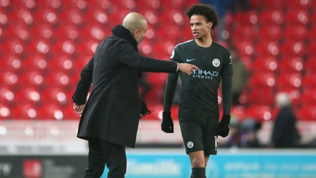 Pep Guardiola Claims Leroy Sane Can Leave Manchester City If He's Unhappy