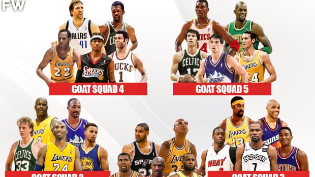 Ranking The 5 GOAT Squads: Michael Jordan And LeBron James Make The Greatest Lineup Of All-Time