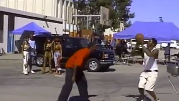 Rare Footage Of Young Kobe Bryant Playing Beyonce's Dad One-On-One