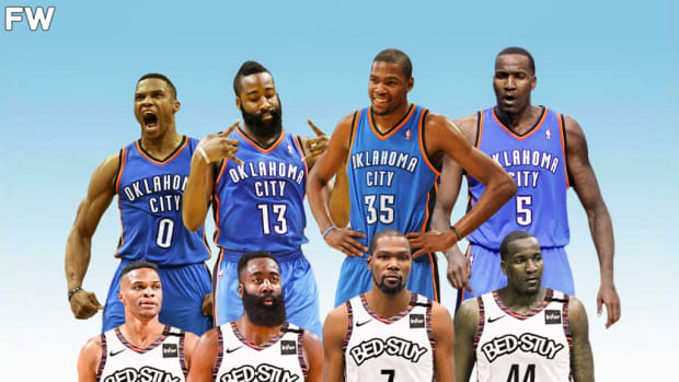The OKC Thunder Reunion In Brooklyn: Nets Can Trade Kyrie Irving For Russell Westbrook And Kendrick Perkins Comes Out Of Retirement