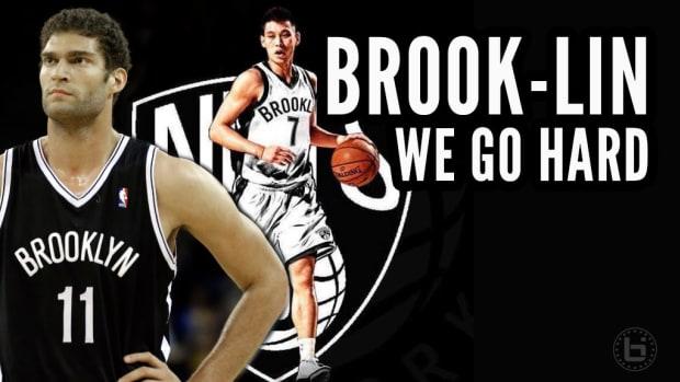 Brook Lopez and Jeremy Lin