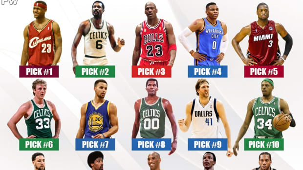 Ranking The Greatest Players In NBA History By Draft Pick (No. 1 - No. 15)