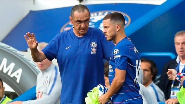 Maurizio Sarri Tells Eden Hazard To Leave Chelsea If He wants