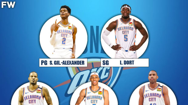 The 2020-21 Projected Starting Lineup For The Oklahoma City Thunder