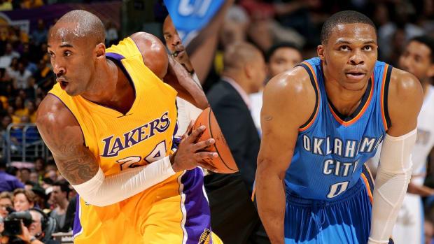 Kobe Bryant, Russell Westbrook