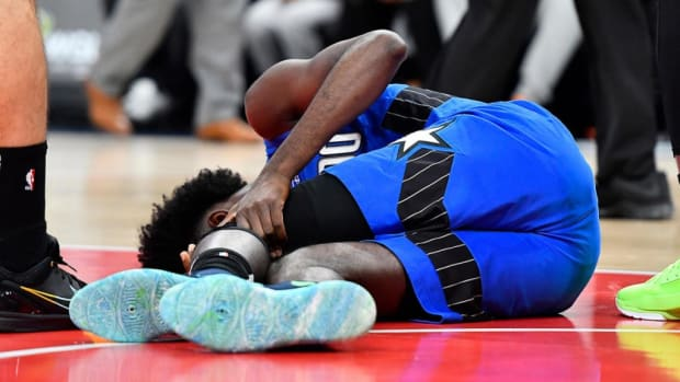 Jonathan Isaac Left Game In Wheelchair After Brutal Fall