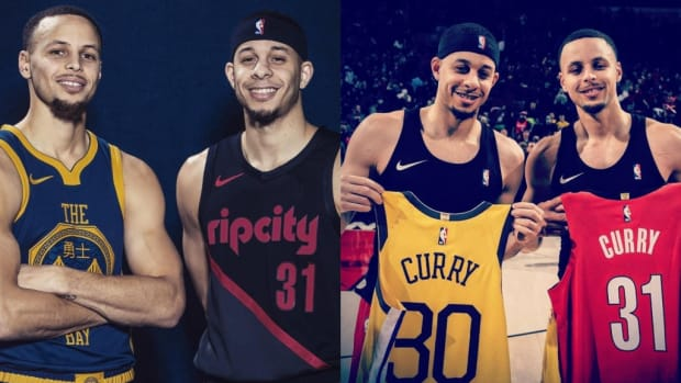 The Curious Method The Currys Will Use To Decide Who To Root For In Blazers-Warriors Series